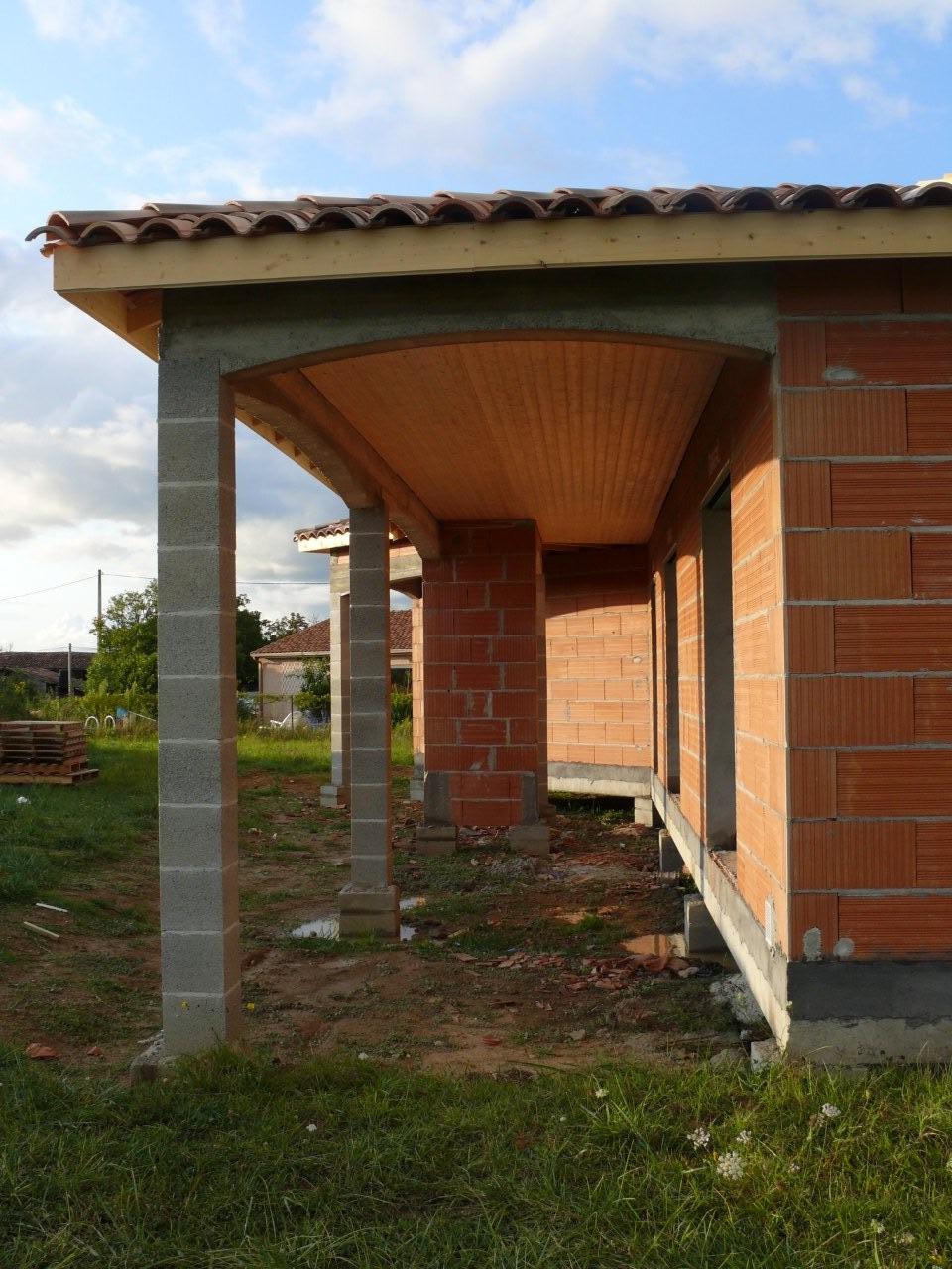 planche de rive avant toit et terrasse construction de notre maison. Black Bedroom Furniture Sets. Home Design Ideas
